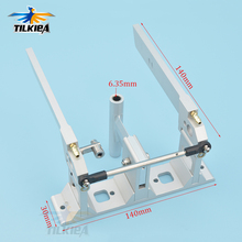 High Quality CNC Aluminum Dual Rudder with Strut 140mm  For 1/4 (6.35mm) Shaft RC Boat Gas O Boat
