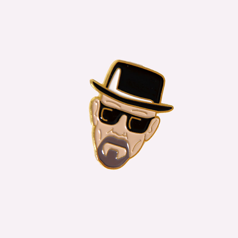 Breaking Bad Walter White Brooch and Enamel Pins Women Men Backpack Bags Lapel Pin Gifts image