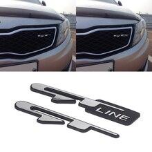 2pcs Car Front Grills Sticker Car Sticker for Peugeot 206 207 408 508 5008 KIA Optima K3 K5 Stinger GT Line Rear Trunk Sticker цена 2017