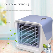 Mini USB Air Conditioner Portable Air Cooler Multifunction Desktop Humidifier Purifier Air Cooling Fan For Office Bedroom