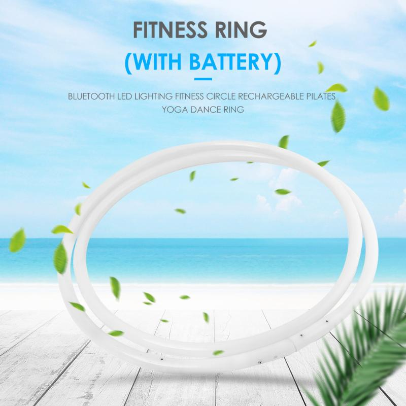 Durable Sport Hoops Multi-function Bluetooth LED Lighting Fitness Circle Rechargeable Pilates Yoga Ring W/ Battery