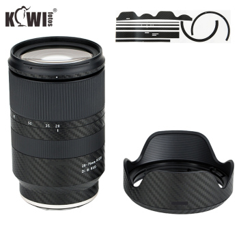 Anti-Scratch Lens and Hood Cover Carbon Fiber Protective Skin Film For Tamron 28-75mm f/2.8 Di III RXD A036 Anti-Slide - discount item  10% OFF Camera & Photo