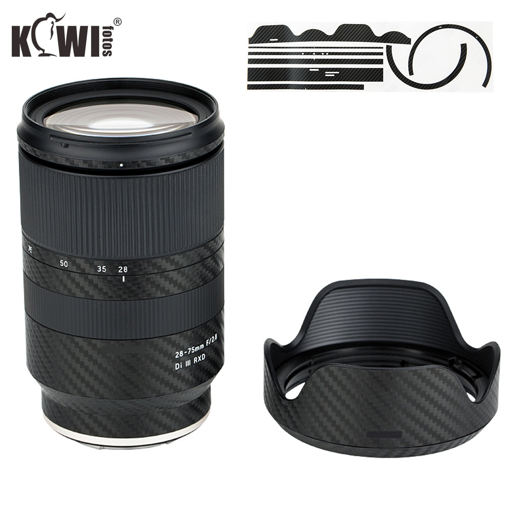 Anti-Scratch Lens And Lens Hood Cover Carbon Fiber Skin Film For Tamron 28-75mm F/2.8 Di III RXD A036 Lens Anti-Slide 3M Sticker