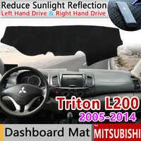 Für Mitsubishi L200 Triton Strada Strakar Barbar Hunter Strakar Anti-Slip Matte Dashboard Abdeckung Sonnenschirm Dashmat Zubehör