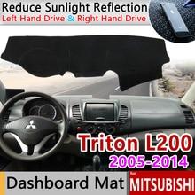Mitsubishi l200 triton strada strakar barbarian hunter strakar 미끄럼 방지 매트 대시 보드 커버 sunshade dashmat 액세서리
