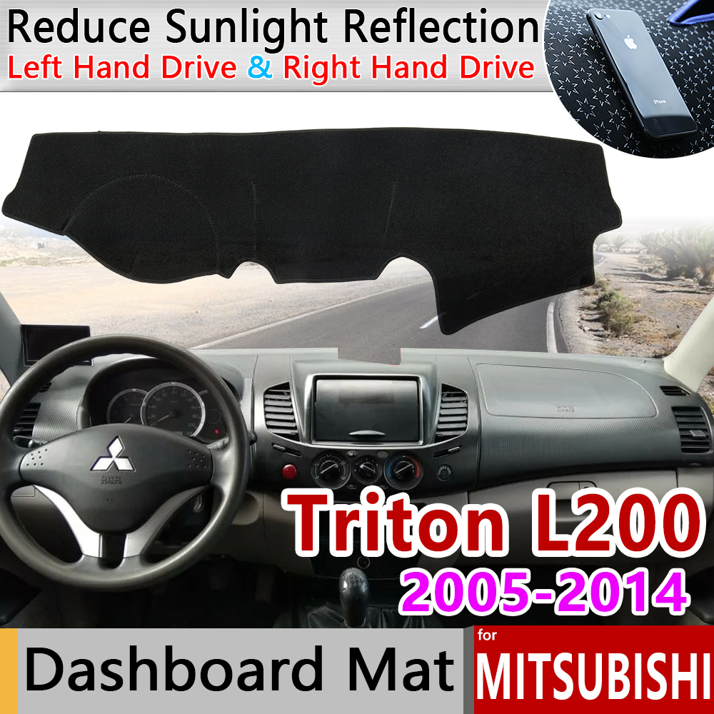for Mitsubishi L200 Triton Strada Strakar Barbarian Hunter Strakar Anti-Slip Mat Dashboard Cover Sunshade Dashmat Accessories