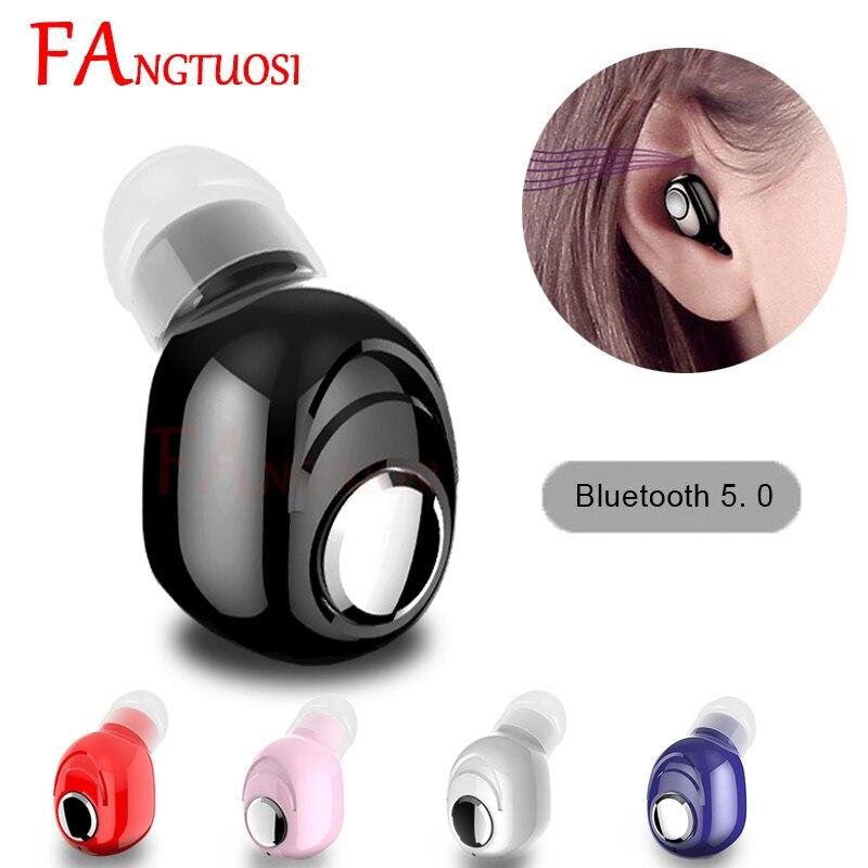 FANGTUOSI мини беспроводные Bluetooth наушники V5.0 стерео наушники-вкладыши с микрофоном спортивные наушники для бега наушники для Android IOS