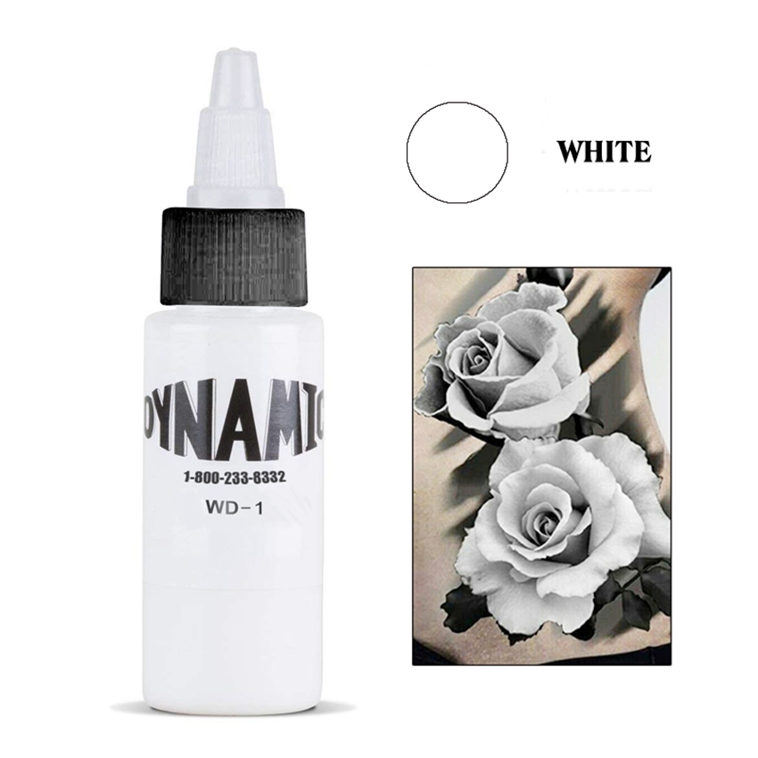 30 Ml Dynamic White  Tattoo Ink Permanent Makeup Micro Pigment For Body Art Tattoo Painting Cosmetics