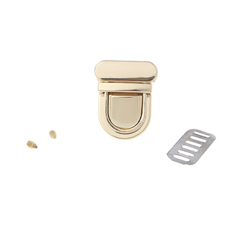 Durable Buckle Twist Lock Hardware For Bag Shape Handbag DIY Turn Lock Bag Clasp
