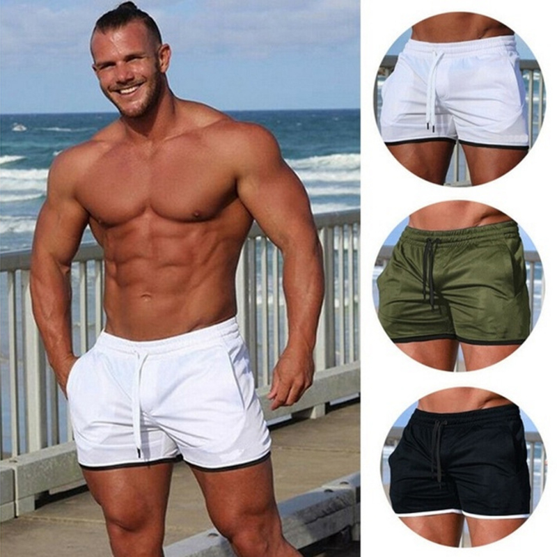 New Men Casual Short Pants Mens Fitness Bodybuilding Shorts Man Summer Gyms Workout Male Breathable Quick Dry Sportswear Jogger