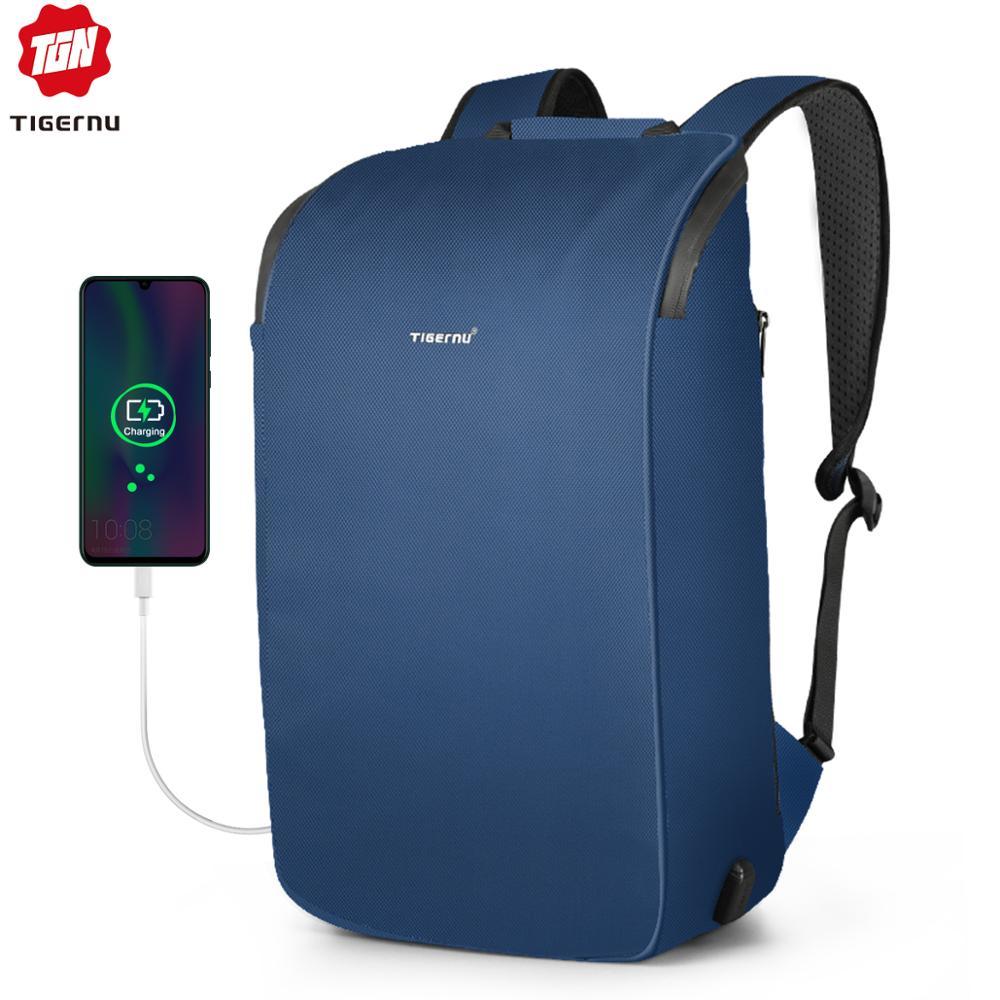 Tigernu 2020 New High Quality Waterproof Travel Backpacks Men Large Capacity 15.6inch Laptop Shockproof Fashion School Backpacks