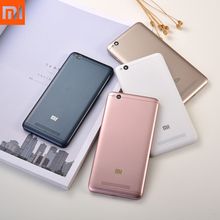 Xiaomi Redmi 4A Battery Cover Plastic Rear Door Housing Replacement PC Battery Cover Back Case & logo camera lens