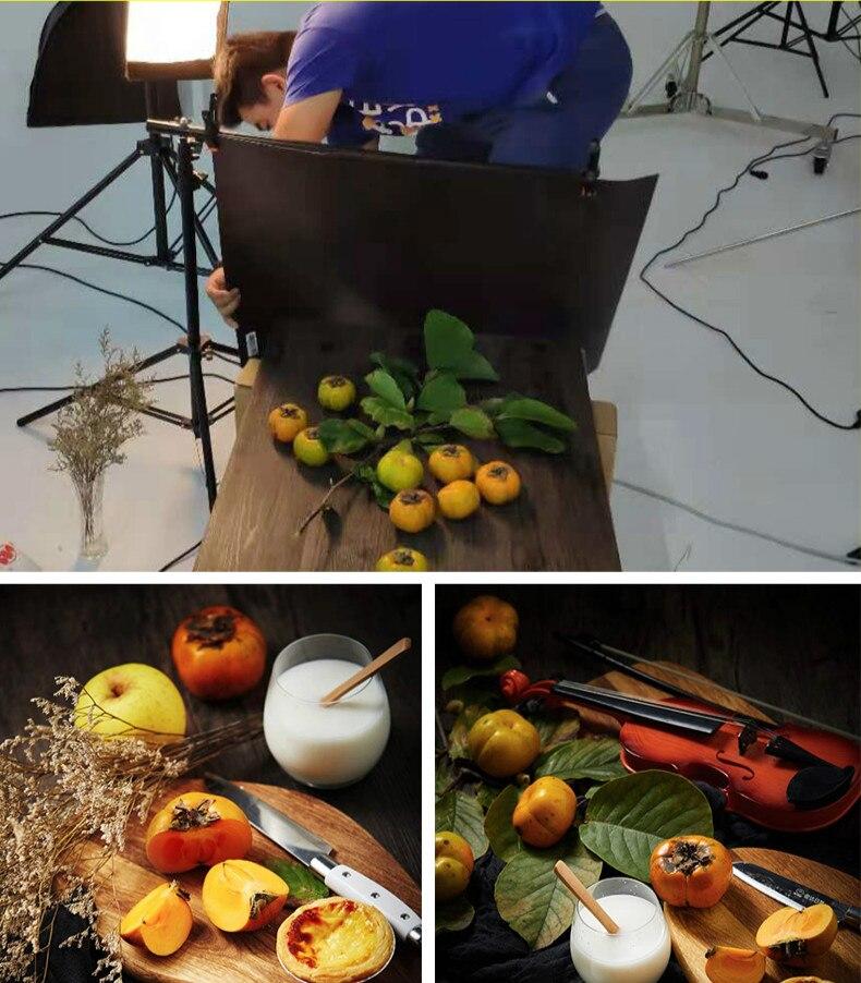 [Acheter 4 gratuit 1]57X87cm photographie marbrure toile de fond 2 face Photo fond Grain de bois étanche décors papier Studio Photo