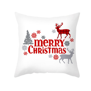 Image 5 - 1pcs 45cm Merry Christmas Cushion Cover Elk Santa Claus Decorating Christmas Ornaments Christmas 2020 Xmas Gifts New Year 2021