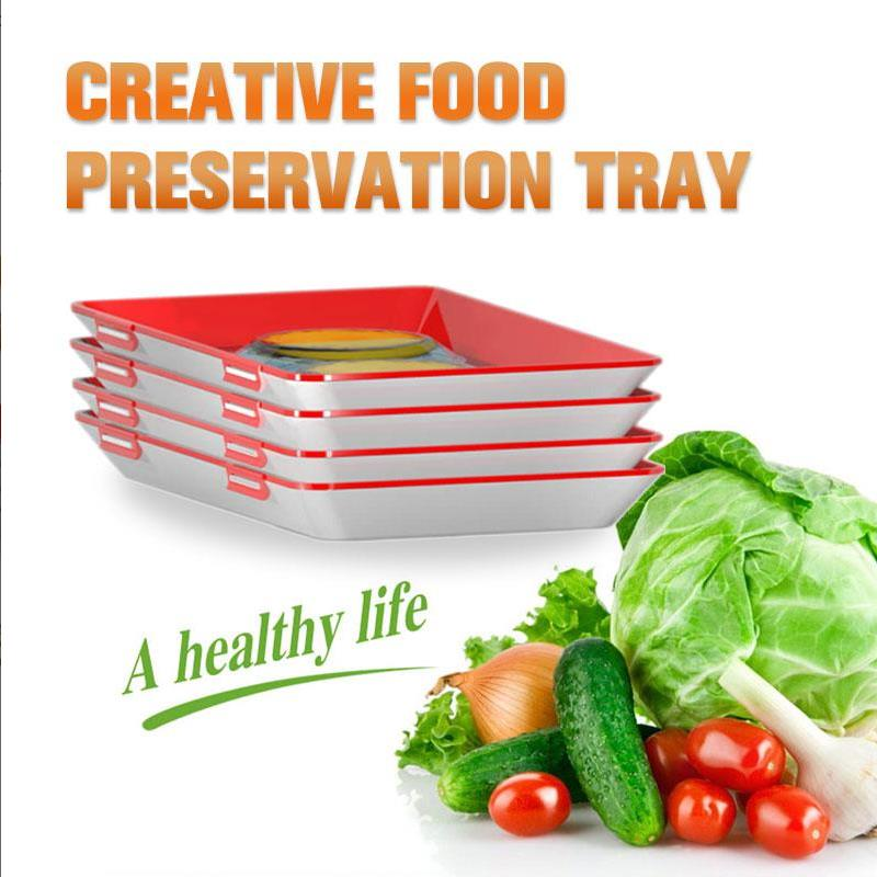 Food-Storage-Container Organizer Preservation-Tray Refrigerator Fresh-Spacer Creative