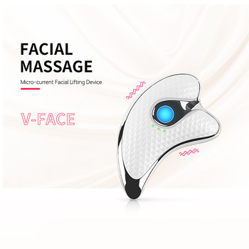 facial health care electric vibrating ion beauty instrument face eye massager remove wrinkles deep cleansing hot and cold care Electric Vibrating Beauty Instrument Micro Current Scraping Instrument Facial Lifting Device Thin Face Massager Remove Toxins