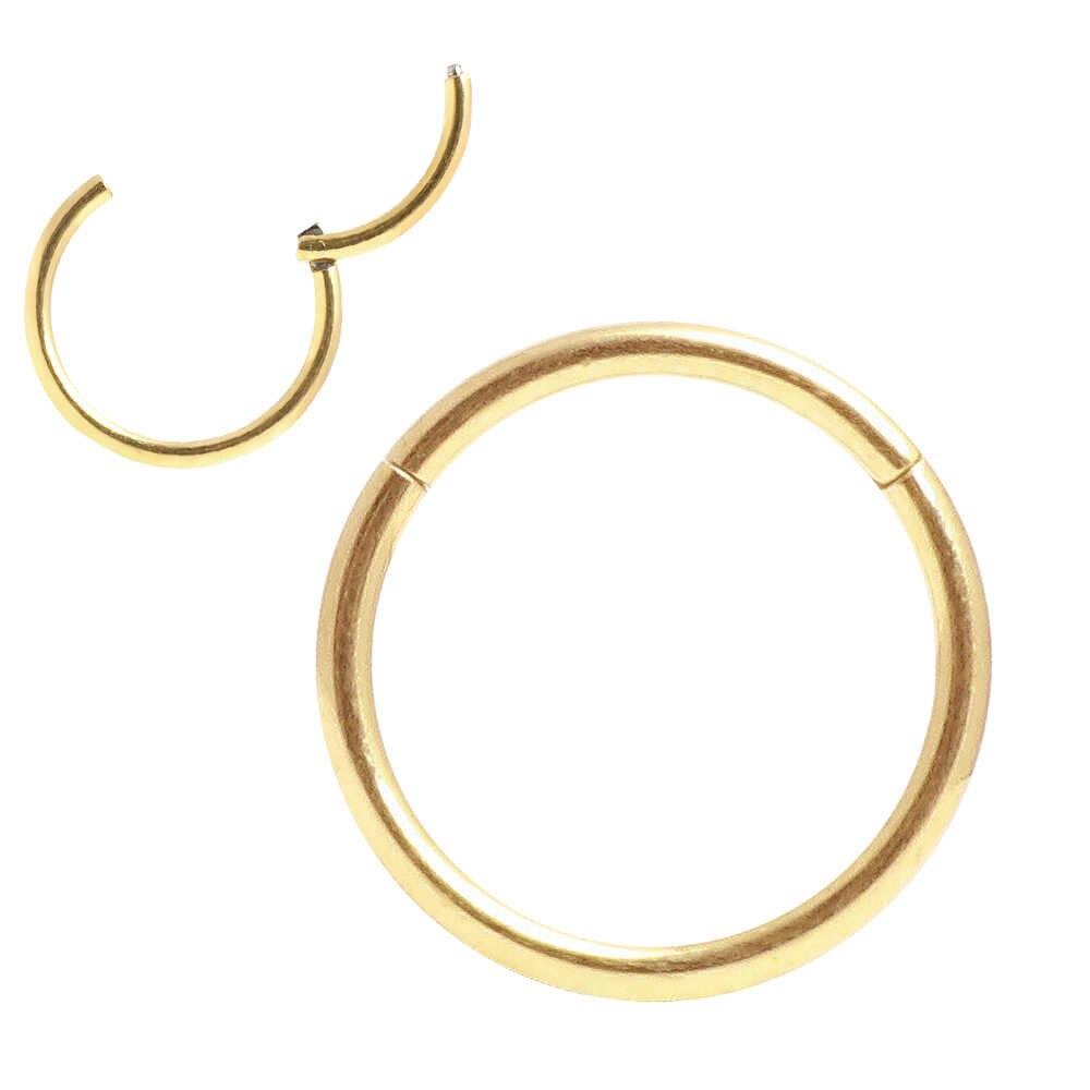 היפואלרגנית האף טבעות 20G 18G 16G 14G 12G 10G 8G 316l כירורגי פלדה צירים קטע טבעת פירסינג תכשיטי עגילים