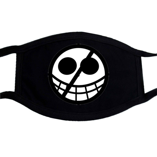 One Piece Mouth Mask Japnese Harajuku Streetwear Face Anime Maske Washable Black Keep Warm Mouth-Muffle Reusable Mask Kpop 5