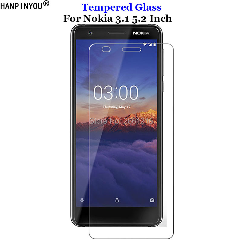 For Nokia3.1 Tempered Glass 9H 2.5D Premium <font><b>Screen</b></font> <font><b>Protector</b></font> Film For <font><b>Nokia</b></font> <font><b>3.1</b></font> 3 (2018) TA-1049 TA-1057 TA-1063 TA-1070 5.2
