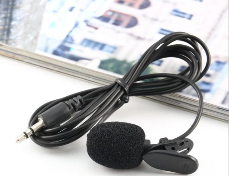 3.5mm Clip On Mini Microphone Lapel Tie Hands Free Lavalier Mic For Laptop PC BK /1000pcs