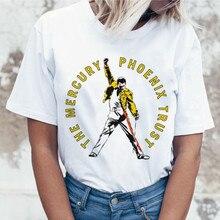 2020 señoras Mercury Queen Harajuku camiseta mujer Vintage Ullzang camiseta de moda Rock camiseta 90s gráfico Rock superior camiseta femenina