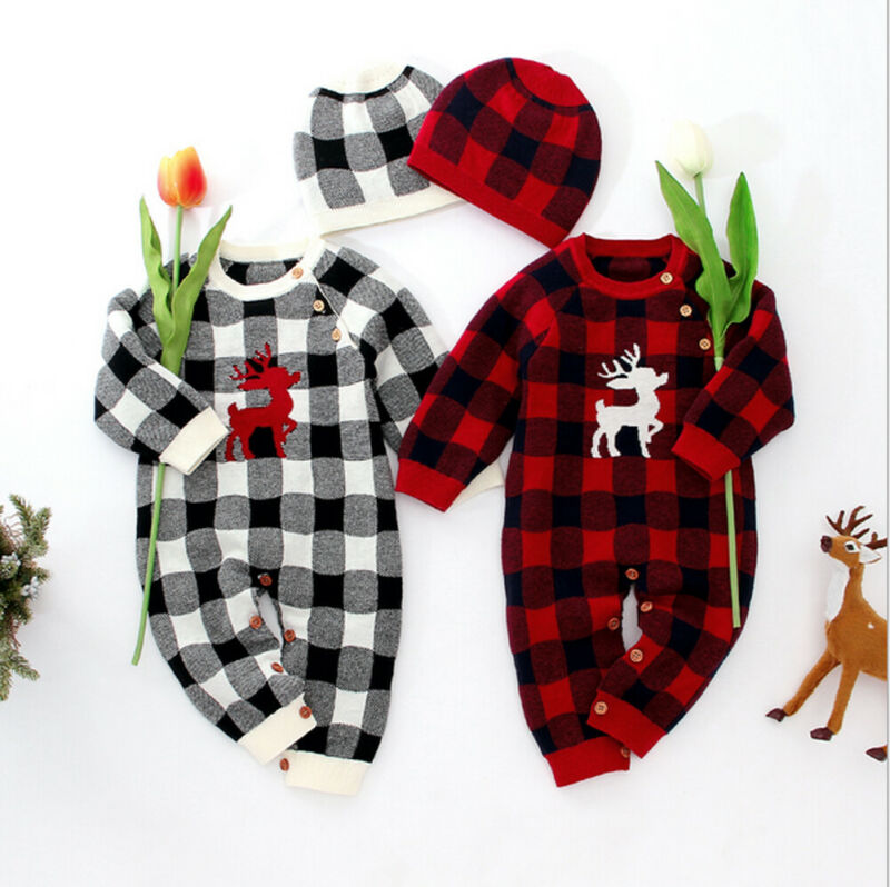 Chrtistmas Strampler Baby Junge Mädchen Kleidung Baumwolle Romper Overall Outfits Herbst Winter Kleidung 0-18 monate