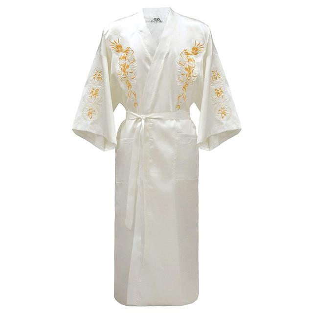 Кимоно халат мужской с вышивкой в китайском стиле 6