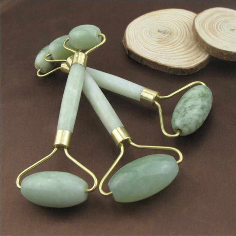 Jade Facial Massage Roller Facial Skin Care Tools Double Head Anti Wrinkle Healthy Face Slim Eye Neck Head Roller Beauty Tool