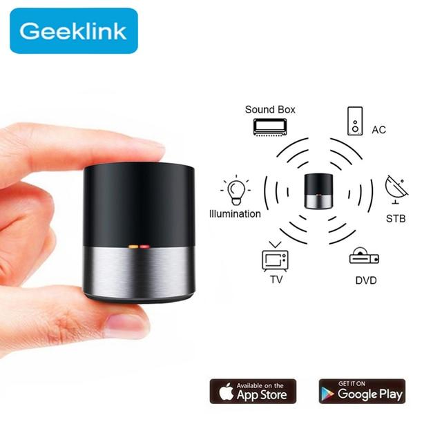Casa inteligente controle remoto para geeklink app wifi + ir sem fio ios android app siri controle de voz tv ac temporizador controle inteligente