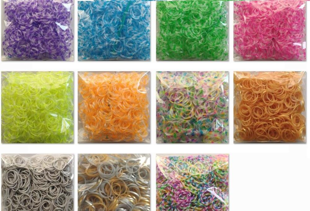 Loom Rubber Bands 600pcs Bracelet For Kids Or Hair Rainbow Rubber Loom Bands Make Woven Bracelet DIY Toys Christmas 2019 Gift