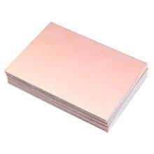 Placa de fibra de vidro 7x10cm, placa de cobre dupla face pcb fr4, componentes passivos com 10 peças