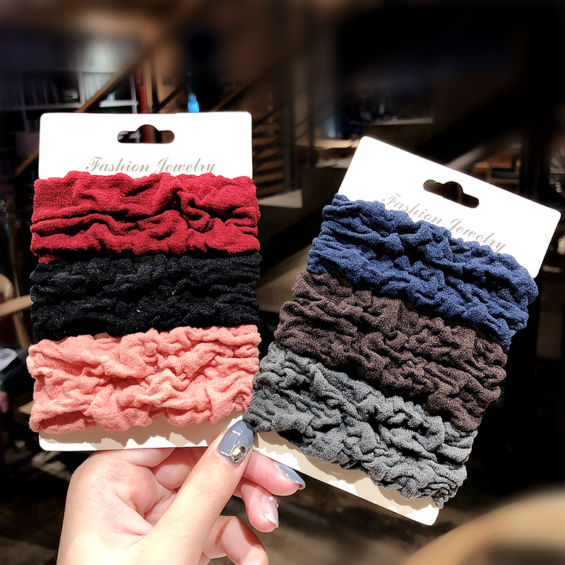 New High Quality Crude Solid Elastic Hair Bands For Women Ponytail Holder Headband Scrunchie Rubber Bands Hair Ropes Tie Gum Fashion Hair Accessories