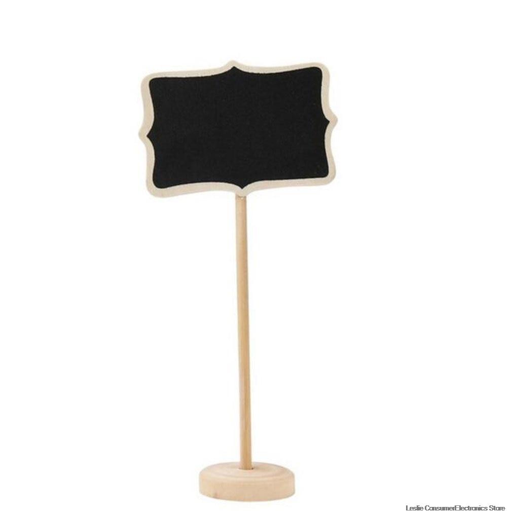 10Pcs Mini Wooden Chalkboard Blackboard Wood Message Notice Board For Table Wedding Party Decor Writting Information