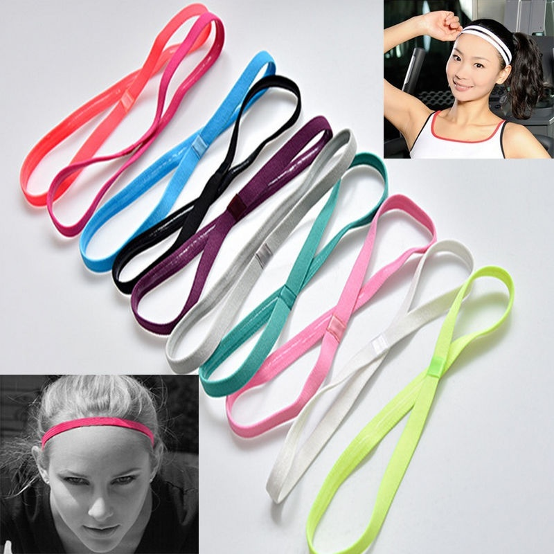 2pcs Sports Stretch Yoga Hairband Headband Women Men Elastic Band
