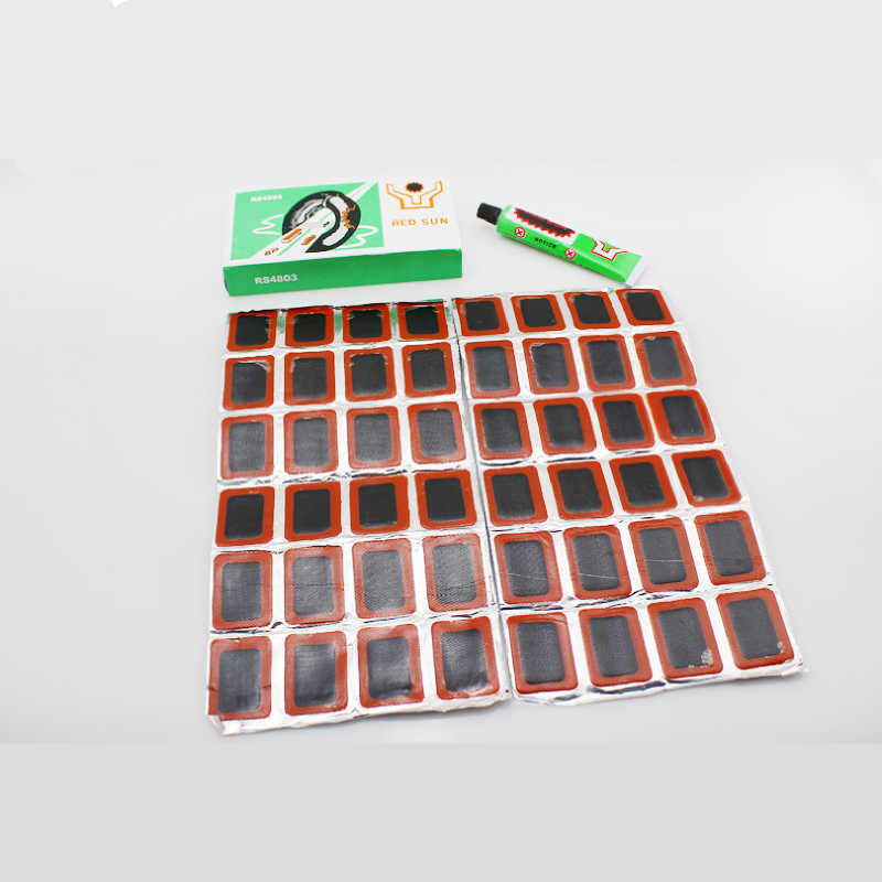 48Pcs Inner Tire Tyre Bike Kit Repair Tube Bicycle Puncture Round Patch Glueless