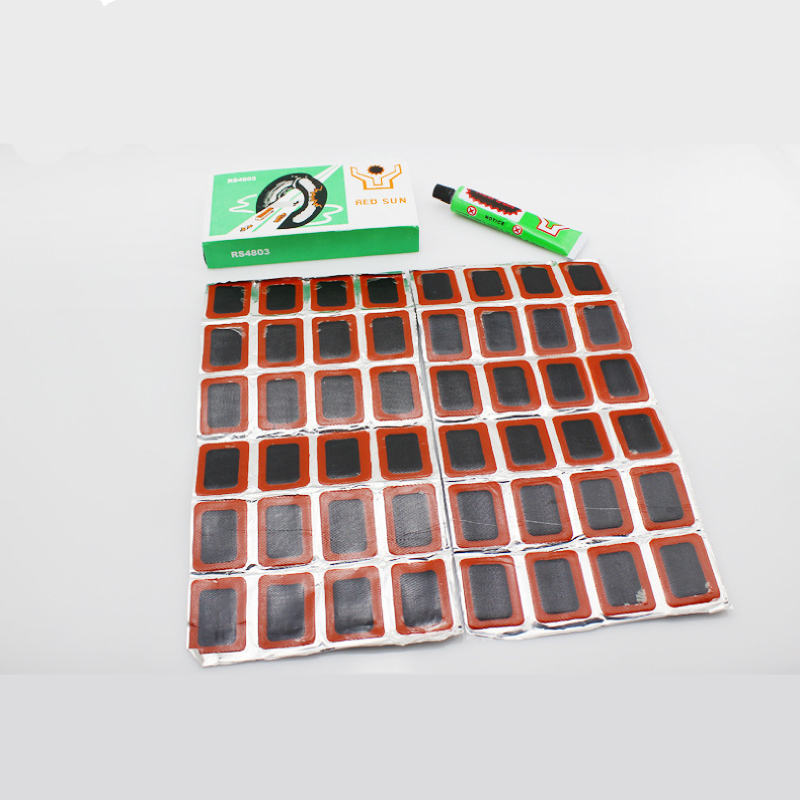 48 Pcs+1 Glue High Quality Round Bicycle Bike Tire Tyre Rubber Patch Piece Cycling Puncture Repair Tools Kits