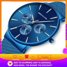 MEGALITH Mens Watches Top Brand Luxury Waterproof Wrist Watch Ultra Thin Date Quartz Watch For Men Sports Clock Erkek Kol Saati