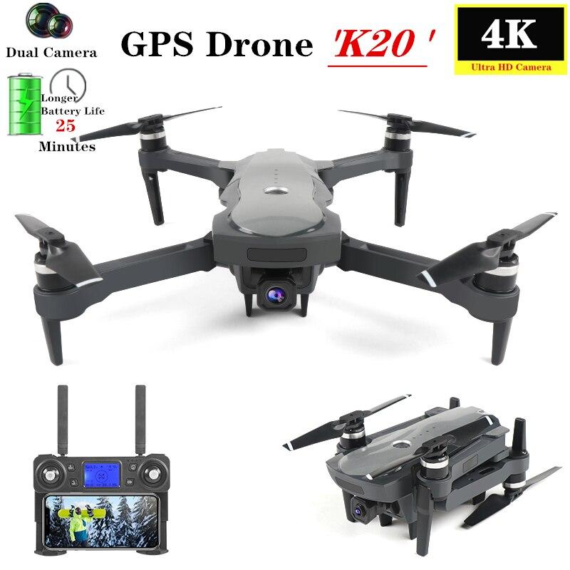 Gps Дрон 4K Квадрокоптер с 5G WiFi FPV HD камерой бесщеточный двигатель оптический поток слежения Квадрокоптер 25 минут время полета VS F11