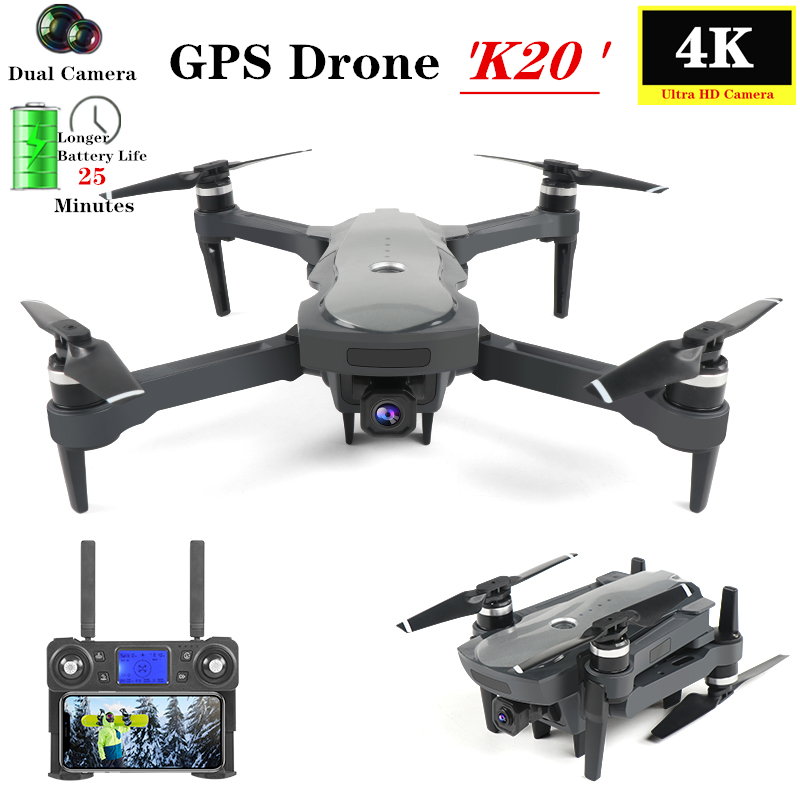 GPS <font><b>Drone</b></font> 4K Quadcopter with 5G WiFi FPV HD Camera <font><b>Brushless</b></font> Motor Optical Flow Follow Quadrocopter 25 Mins Flight Time VS F11 image