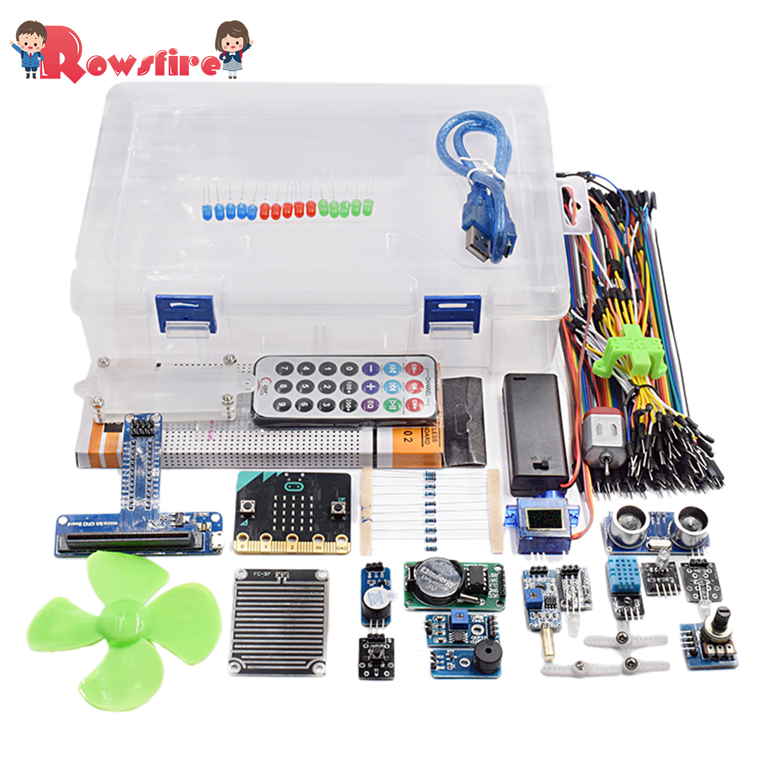 Rowsfire 1 Set Microbit Graphical Programming Starter Sensor Kit For Chidren Adilt Creative Gifts