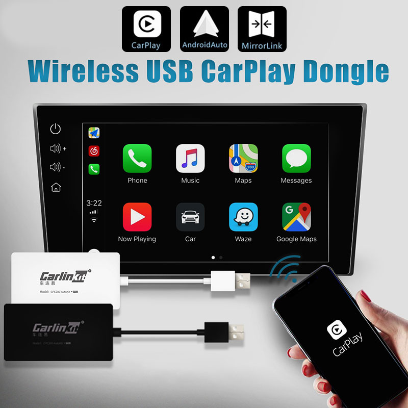 Carlinkit Carplay A3 Wireless for Apple Carplay Adaptador Android Auto Dongle Car Play Iphone USB WIFI Bluetoot MIMI Mirror Link in TV Receiver for Car from Automobiles Motorcycles