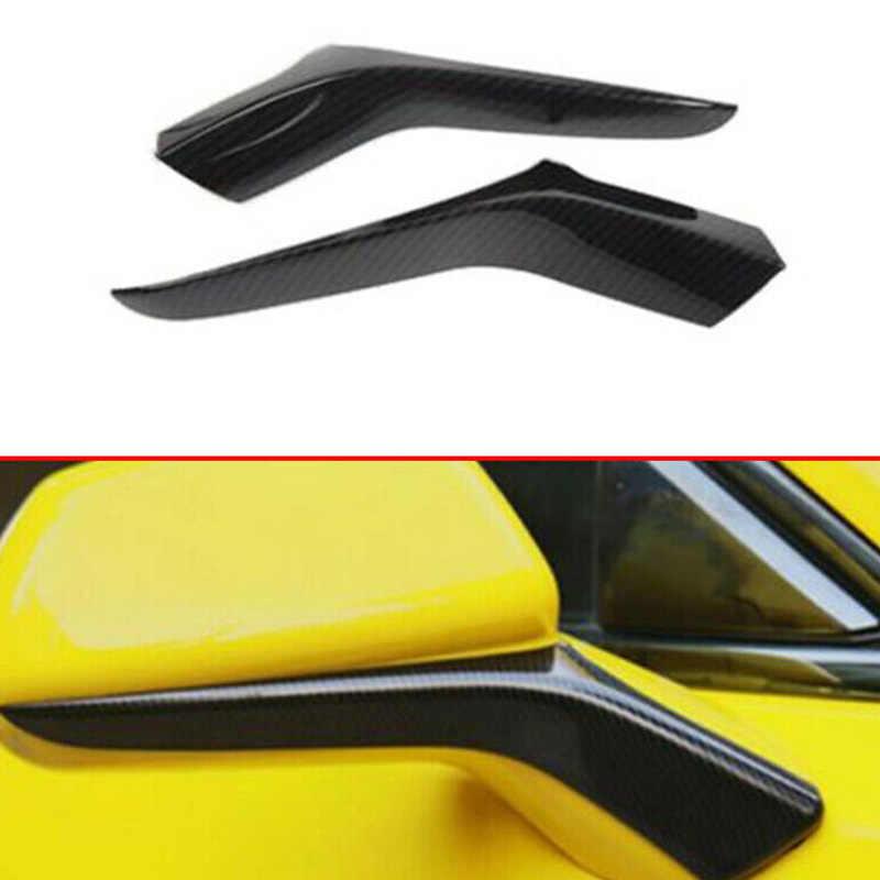 Abs fibra de carbono porta lateral espelho retrovisor guarnição capa para chevrolet camaro 2017 + estilo do carro exterior acessórios