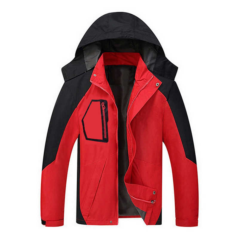Men Patchwork Jacket Casual Hooded Windbreaker Spring Winter Loose Windproof Sportwear Jaqueta Masculino Zipper Male Coat