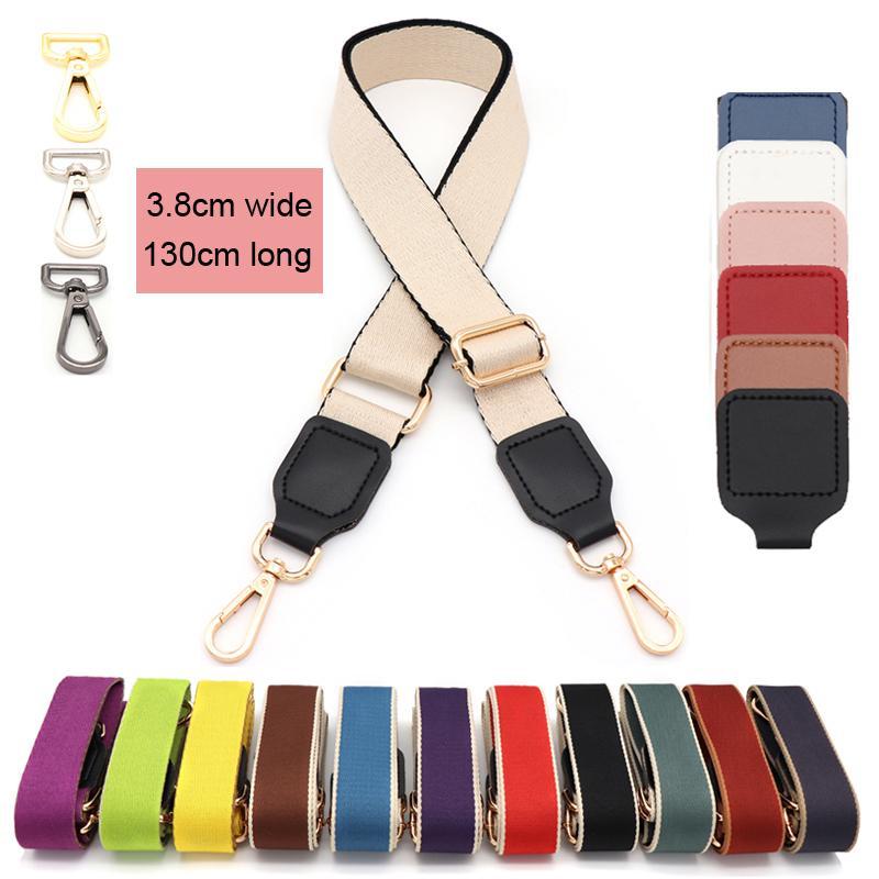 New Solid Color Bag Straps Adjustable Handbag Shoulder Bag Strap Wide 130cm Long Replacement Bags Belt accessories for bags 2021
