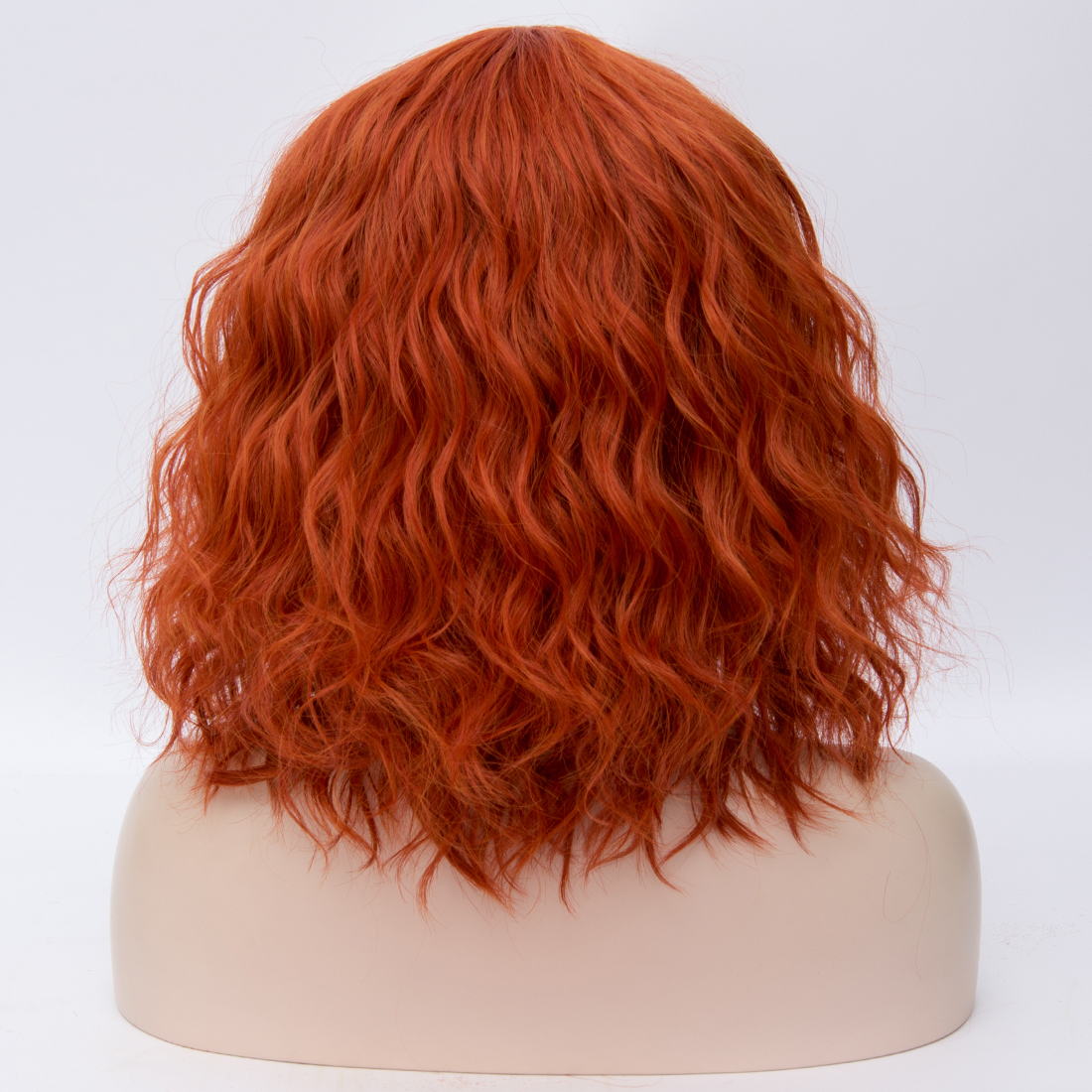 He067b7d1cf9b438ba12d7ba6859c1477b - Similler Short Synthetic Wig for Women Cosplay Curly Hair Heat Resistance Ombre Color Blue Purple Pink Green Orange Two Tones