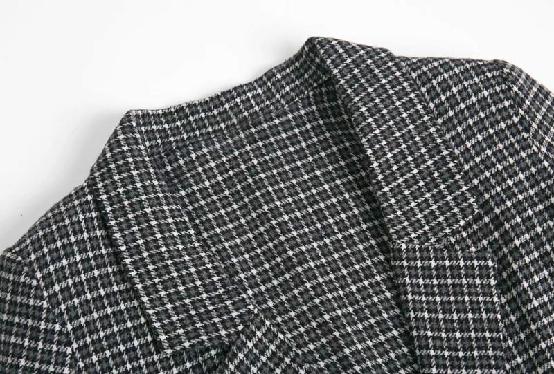 Fashion plaid ladies jacket 2019 autumn new slim single-breasted long-sleeved suit jacket female Wild women's plaid blazer