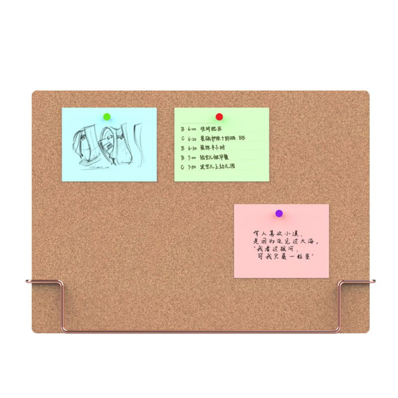 Home School Natural Prompt Message Cork Board Environmentally Memo Pinboard Home Office Notice Display Organizer Supplies