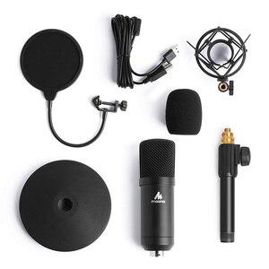Image 5 - MAONO Kit de micrófono USB de 192KHZ/24 bits para ordenador, condensador de AU A04T, Podcast, Streaming, Plug & Play, micrófono para YouTube y juegos