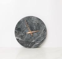 Nordic Design Marble Black Wall Clock Creative Modern Minimalist Bedroom Art Clocks Personality Living Room Wall Watch