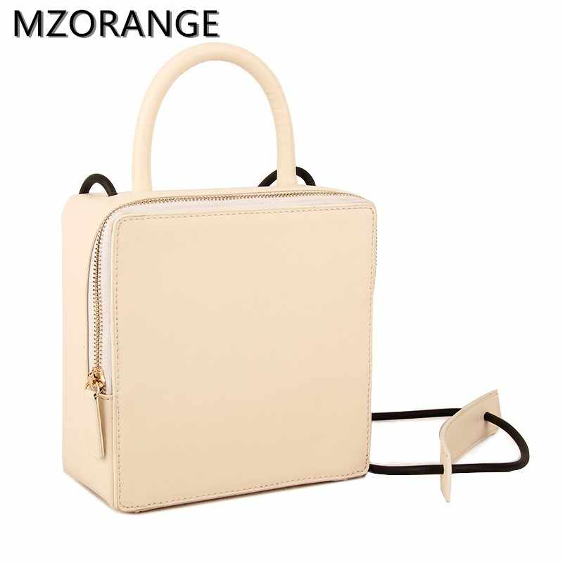 MZORNAGE yüksek kaliteli kare şeklinde çanta kadınlar için 2019 deri yeni Flap çanta kadın tote küpü çantası mini çanta Crossbody çanta